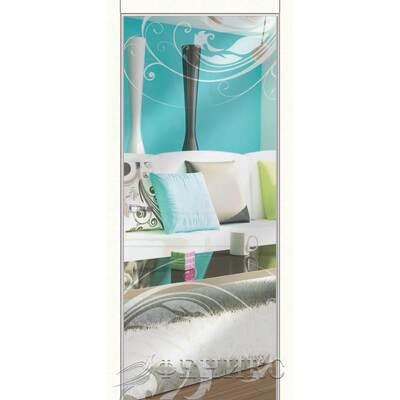 Зеркальная дверь Alba (зеркало серебро)