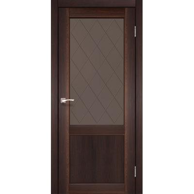 Межкомнатная дверь Classico CL-01 с бронзовым стеклом без штапика