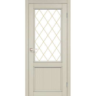 Межкомнатная дверь Classico CL-02 белое стекло с штапиком
