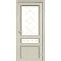 Межкомнатная дверь Classico CL-05  белое стекло с штапиком