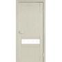 Міжкімнатні двері Classico CL-06 глухе з білим склом без штапика