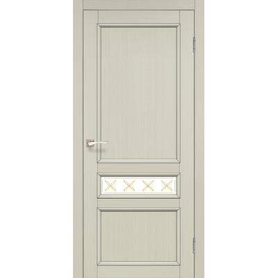 Міжкімнатні двері Classico CL-07 глухе біле скло з штапиком