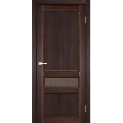 Міжкімнатні двері Classico CL-07 глухе бронзове скло з штапиком