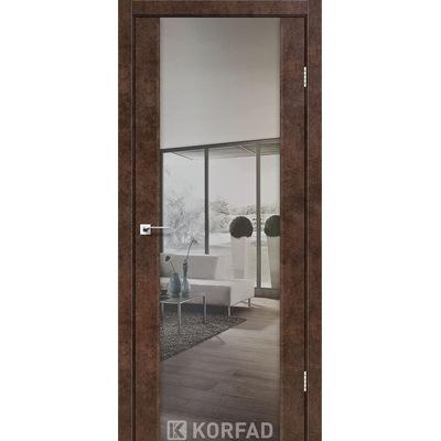 Межкомнатная дверь Sanremo SR-01 зеркало-триплекс серебро