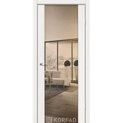Межкомнатная дверь Sanremo SR-01 зеркало-триплекс бронза
