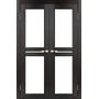 Межкомнатная двойная дверь Milano ML-09 с белым стеклом