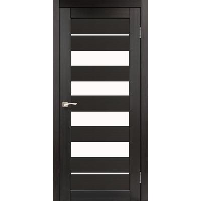 Межкомнатная дверь Piano Deluxe PND-03 с белым стеклом