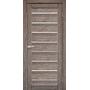 Межкомнатная дверь Piano Deluxe PND-01 с белым стеклом