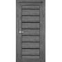 Межкомнатная дверь Piano Deluxe PND-01 с черным стеклом