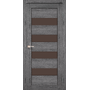 Межкомнатная дверь Piano Deluxe PND-02 с бронзовым стеклом