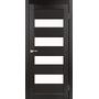 Межкомнатная дверь Piano Deluxe PND-02 с белым стеклом