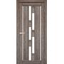 Межкомнатная дверь Venecia Deluxe VND-05 с белым стеклом
