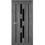Межкомнатная дверь Venecia Deluxe VND-05 с черным стеклом