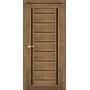 Межкомнатная дверь Venecia Deluxe VND-01 с черным стеклом