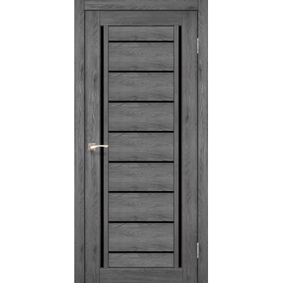 Міжкімнатні двері Venecia Deluxe VND-01 з чорним склом