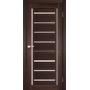 Межкомнатная дверь Venecia Deluxe VND-01 с белым стеклом