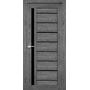 Межкомнатная дверь Venecia Deluxe VND-02 с черным стеклом