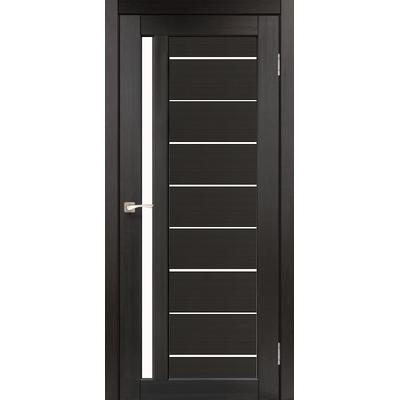 Межкомнатная дверь Venecia Deluxe VND-02 с белым стеклом