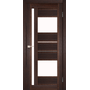 Межкомнатная дверь Venecia Deluxe VND-03 с белым стеклом