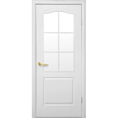 Межкомнатная дверь Классик со стеклом сатин (Симпли В-G)