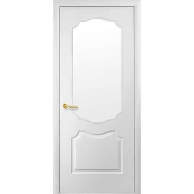 Межкомнатная дверь Вензель со стеклом сатин (Симпли V-G)