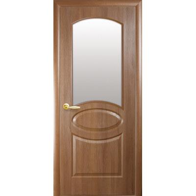 Межкомнатная дверь Овал (Фортис R) со стеклом сатин