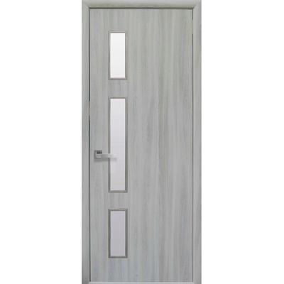 Межкомнатная дверь Герда со стеклом сатин без рисунка