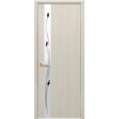 Межкомнатная дверь Злата с зеркалом и рисунком