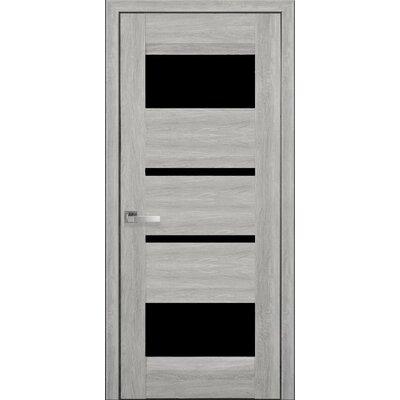 Межкомнатная дверь Ibiza Nano Flex с черным стеклом