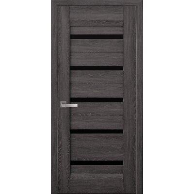 Межкомнатная дверь Lira Nano Flex с черным стеклом
