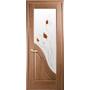 Межкомнатная дверь Амата со стеклом сатин и рисунком