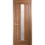 Межкомнатная дверь Премьера со стеклом сатин и рисунком