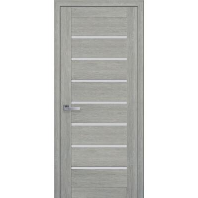 Межкомнатная дверь Leona ПВХ Ultra со стеклом сатин
