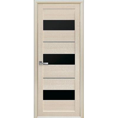 Межкомнатная дверь Лилу с черным стеклом