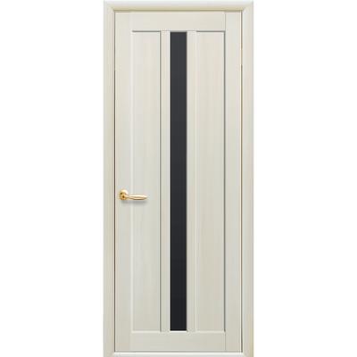 Межкомнатная дверь Марти с черным стеклом