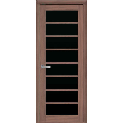 Межкомнатная дверь VIOLA с черным стеклом