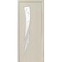 Межкомнатная дверь Камея со стеклом сатин и рисунком Р3
