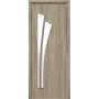 Межкомнатная дверь Лилия со стеклом сатин без рисунка