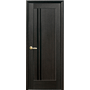 Межкомнатная дверь Делла с черным стеклом ПВХ Deluxe