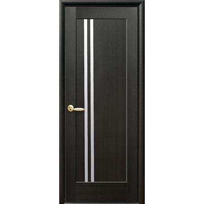 Межкомнатная дверь Делла со стеклом сатин ПВХ Deluxe