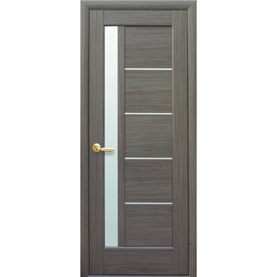 Межкомнатная дверь Грета со стеклом сатин ПВХ Deluxe