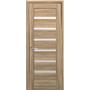 Межкомнатная дверь Линнея со стеклом сатин  ПВХ Deluxe