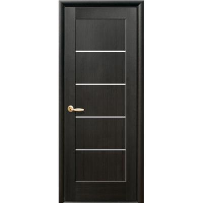 Межкомнатная дверь Мира со стеклом сатин ПВХ Deluxe
