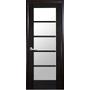 Межкомнатная дверь Муза со стеклом сатин  ПВХ Deluxe