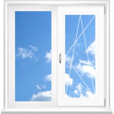 Металлопластиковое окно двустворчатое WDS 400