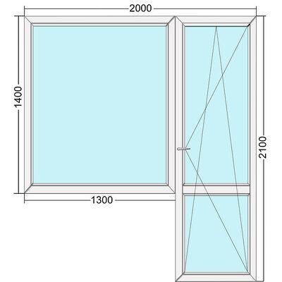 Балконный блок металлопластиковый Steko S300