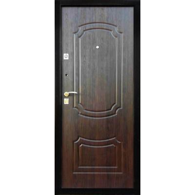 Входная металлическая дверь ПУ-01 МЕТ/МДФ  Орех коньячный