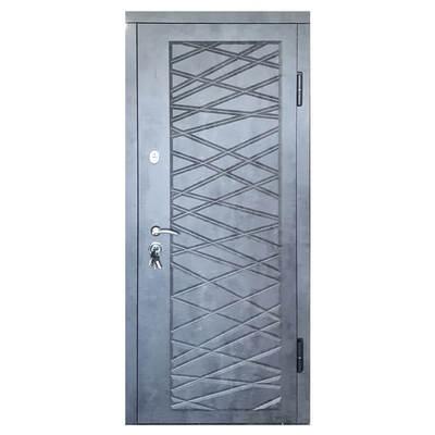 Входная металлическая дверь П-3К-116 МДФ/МДФ Мрамор тёмный декор 4D