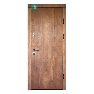 Входная металлическая дверь ПК-185 Элит Украина МДФ/МДФ Спил дерева коньячный/ Медовый