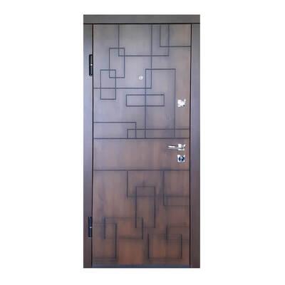 Входная металлическая дверь ПК-157 Украина МДФ/МДФ Дуб тёмный (патина)
